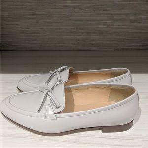 Jcrew off white academy loafers